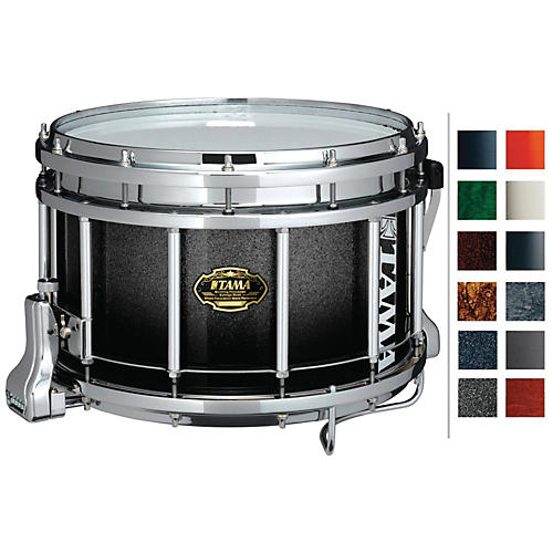 Tama Marching Maple Snare Drum Titanium Silver Metallic 9x14