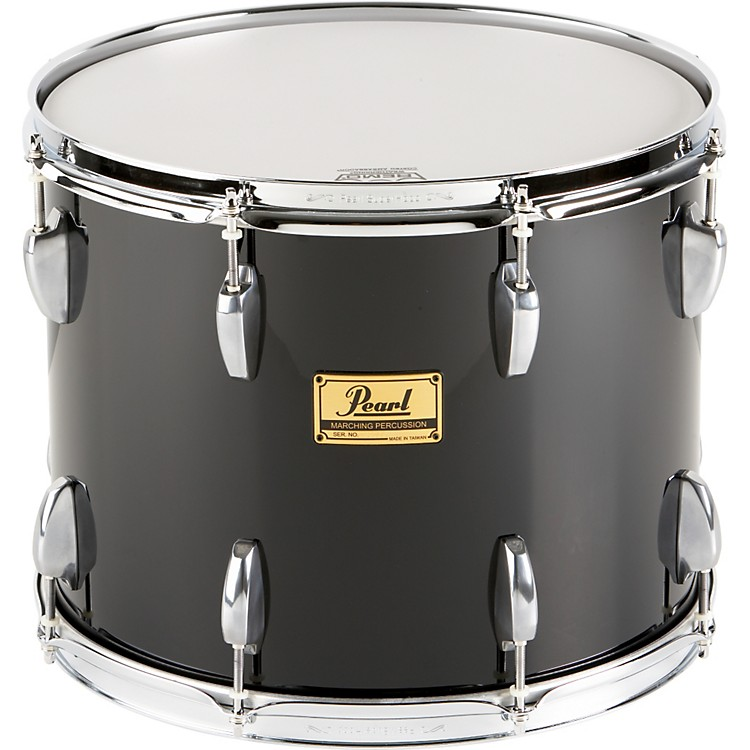 Pearl Maple Traditional Tenor Drum with Championship Lugs #46 Midnight Black 16x14