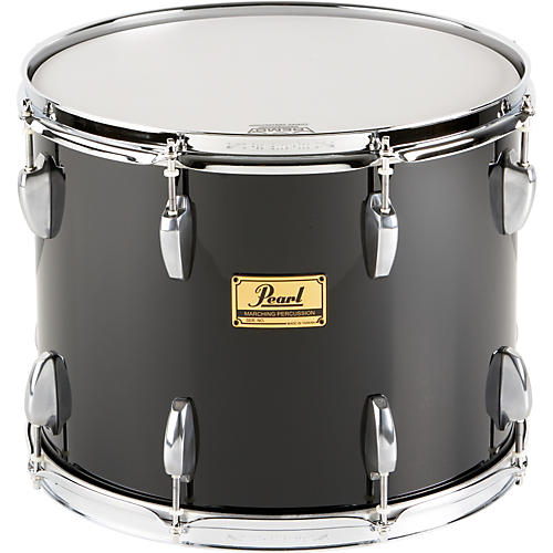 Pearl Maple Traditional Tenor Drum with Championship Lugs Midnight Black (#46) 14x12
