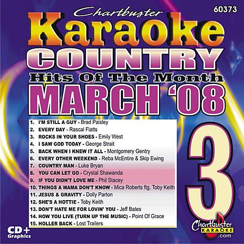 Chartbuster Karaoke March 08 Country Hits Karaoke CD+G