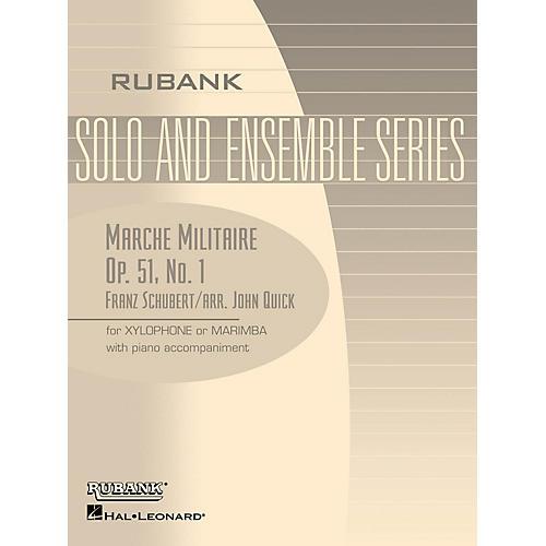 Rubank Publications Marche Militaire, Op. 51 No. 1 Rubank Solo/Ensemble Sheet Series Softcover-thumbnail