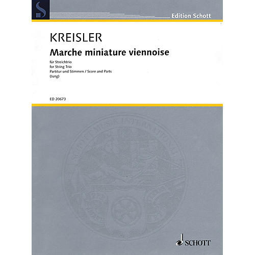 Schott Music Marche Miniature Viennoise String Series Softcover Composed by Fritz Kreisler Arranged by Fredo Jung-thumbnail