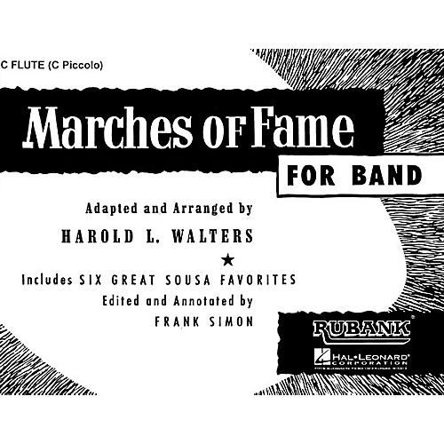 Rubank Publications Marches of Fame for Band (Flute) Concert Band Composed by Various-thumbnail