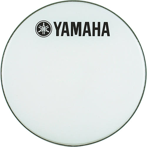 Yamaha Marching Bass Drum Head with Fork Logo White 22 in.