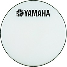 Yamaha Marching Bass Drum Head with Fork Logo White 24 in.