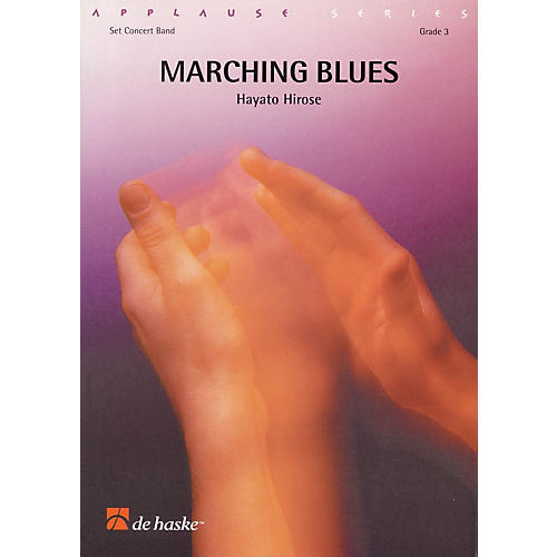De Haske Music Marching Blues Full Score Concert Band Level 3 Composed by Hayato Hirose-thumbnail