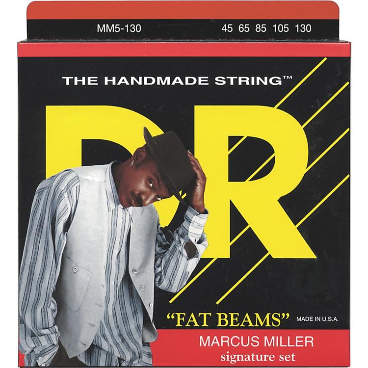 DR StringsMarcus Miller MM5-130 Fat Beams Lite 5-String Bass Strings .130 Low B