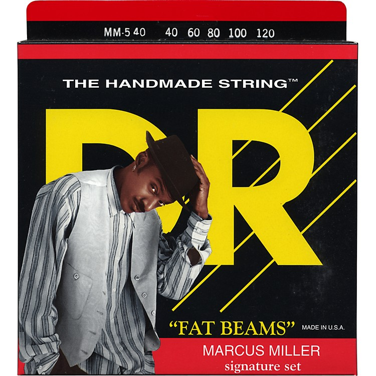 DR Strings Marcus Miller MM5-40 Fat Beams Lite 5-String Bass Strings .120 Low B