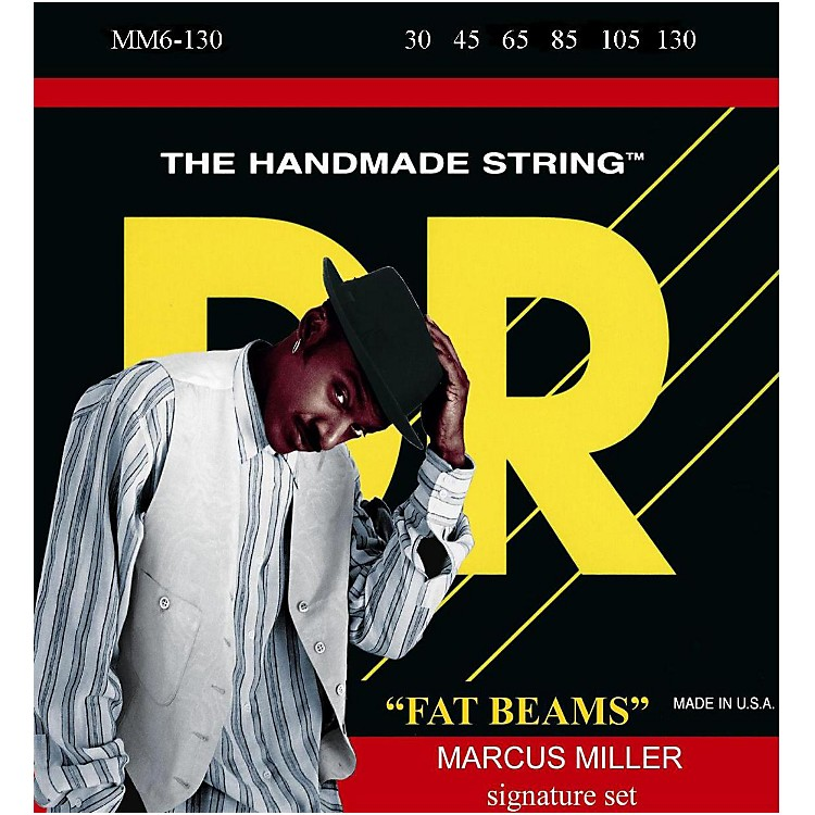 DR Strings Marcus Miller MM6-130 Fat Beams Medium 6-String Bass Strings .130 Low B