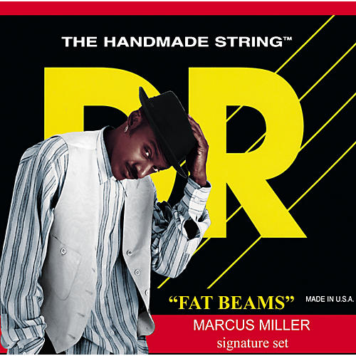 DR Strings Marcus Miller MML-45 Fat Beams Medium Light 4-String Bass Strings-thumbnail