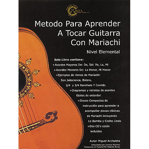 Mixta Publishing Co. Mariachi Method for Guitar Spanish (Book/CD)-thumbnail