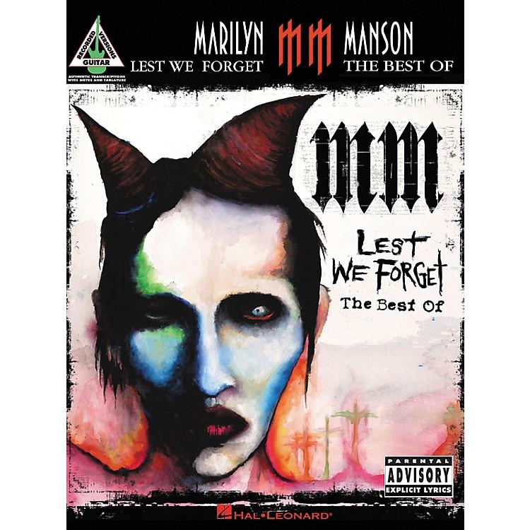 Hal LeonardMarilyn Manson Lest We forget The Best of Guitar Tab Songbook