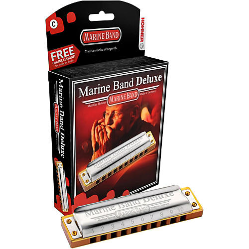 Hohner Marine Band Deluxe Harmonica M2005-thumbnail