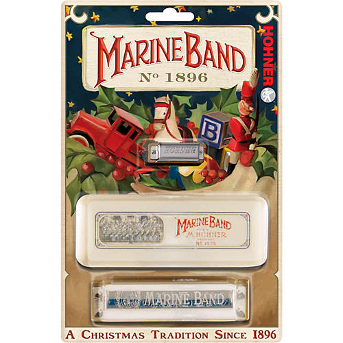Hohner Marine Band (Holiday) Harmonica-thumbnail