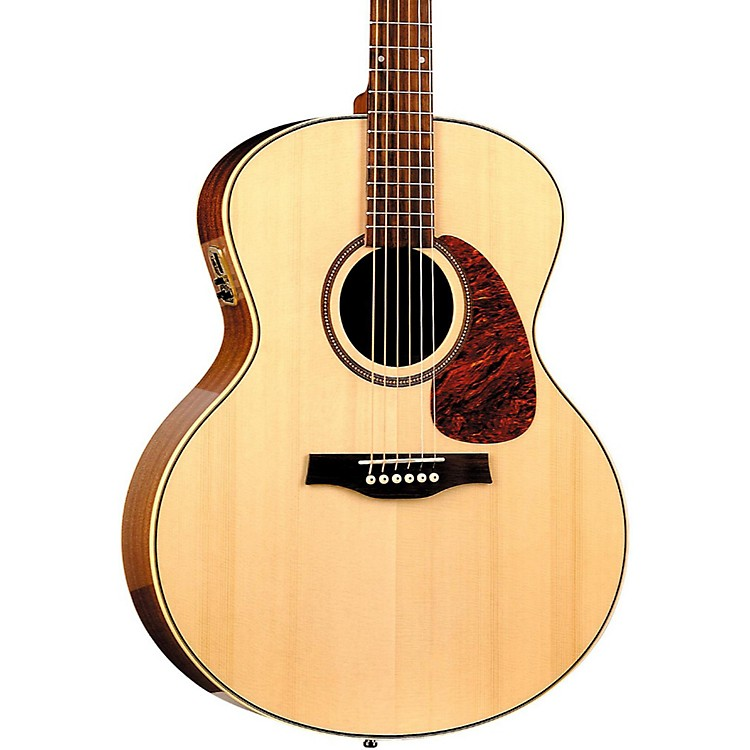 Seagull Maritime SWS Mini Jumbo High Gloss QI Acoustic-Electric Guitar Natural