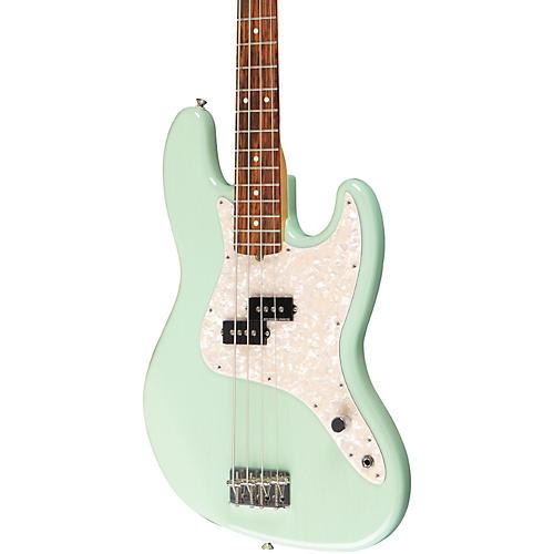Fender Mark Hoppus Signature Bass Guitar Transparent Teal Green