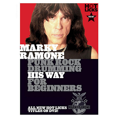 Music Sales Marky Ramone - Punk Rock Drumming His Way for Beginners Music Sales America Series DVD by Marky Ramone-thumbnail