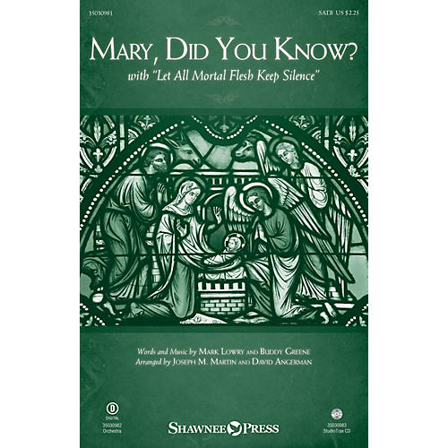 Shawnee Press Mary, Did You Know? (with Let All Mortal Flesh Keep Silence) Studiotrax CD Arranged by Joseph M. Martin-thumbnail