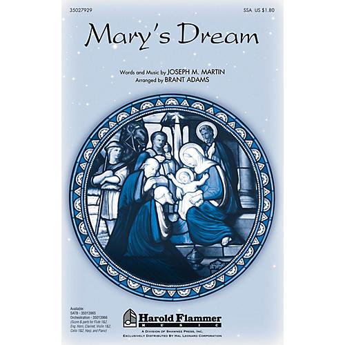Shawnee Press Mary's Dream SSA arranged by Brant Adams
