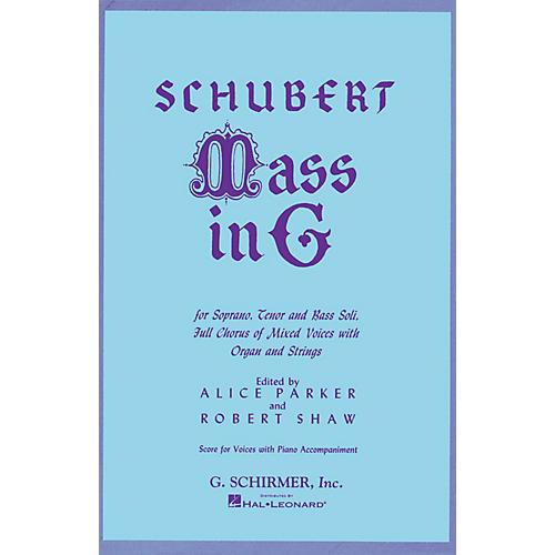 G. Schirmer Mass in G (SATB) SATB composed by Franz Schubert-thumbnail