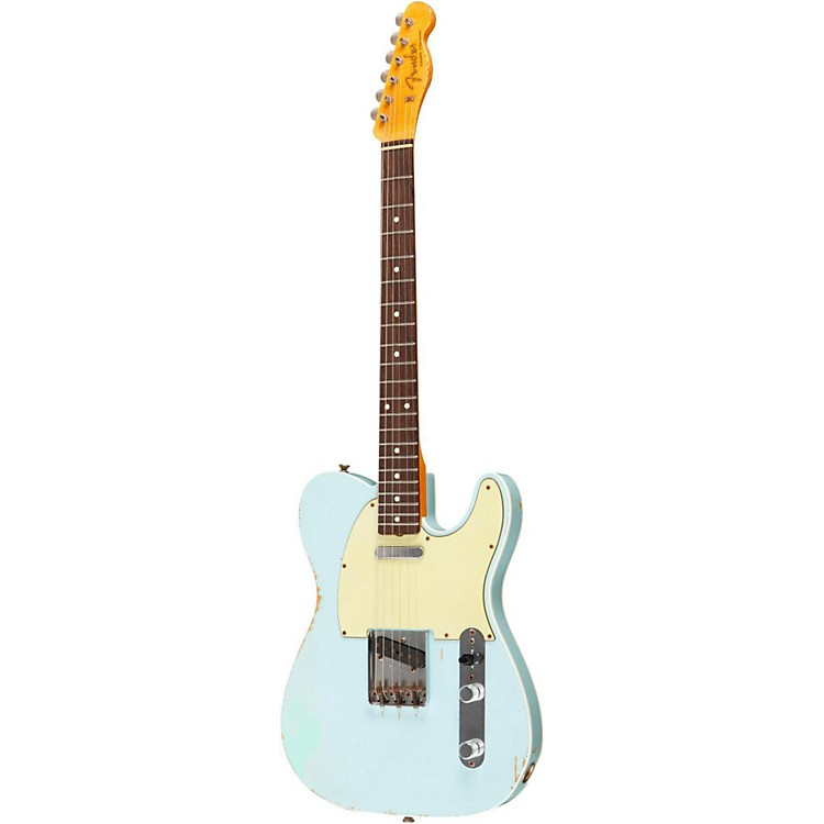 Fender Custom Shop Master Built By Dennis Galuszka 1960 Heavy Relic Telecaster Electric Guitar Sonic Blue