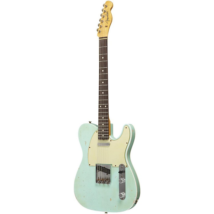 Fender Custom Shop Master Built By Dennis Galuszka 1960 Heavy Relic Telecaster Electric Guitar Surf Green
