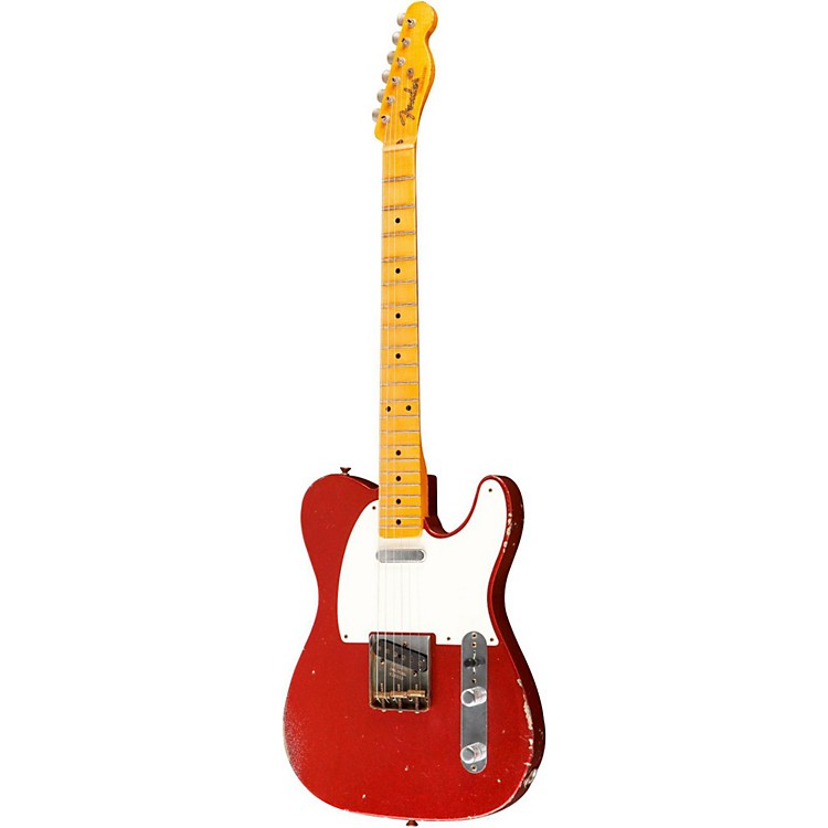 Fender Custom Shop Master Built By Greg Fessler '50s Heavy Relic Telecaster Electric Guitar Red Sparkle