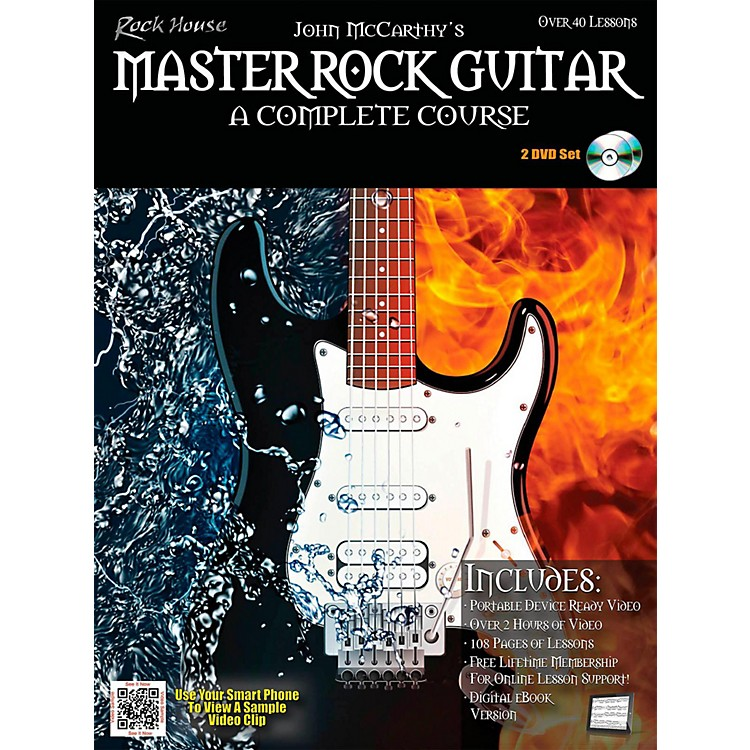 Rock House Master Rock Guitar A Complete Course Book/2-DVD Pack