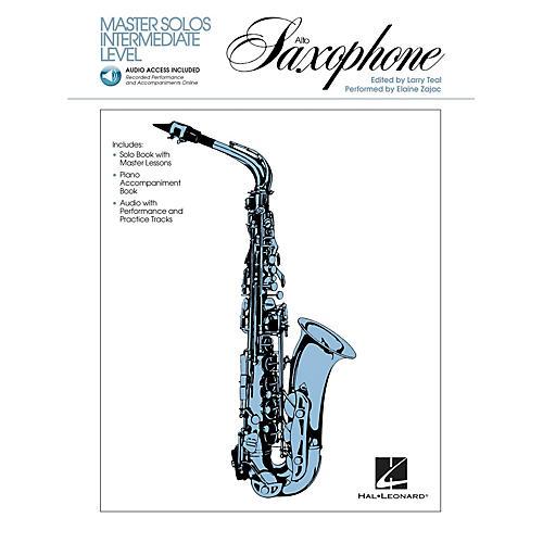 Hal Leonard Master Solos Intermediate Level - Alto Sax (Book/Online Audio) Master Solos Series Book Audio Online-thumbnail
