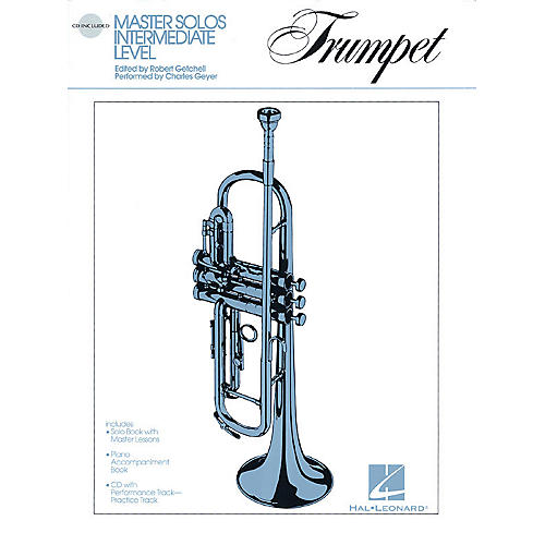 Hal Leonard Master Solos Intermediate Level - Trumpet (Book/CD Pack) Master Solos Series Softcover with CD-thumbnail