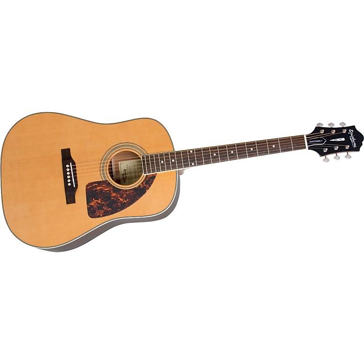 EpiphoneMasterbilt AJ-500M Advanced Jumbo Acoustic GuitarNatural Satin FinishNickel