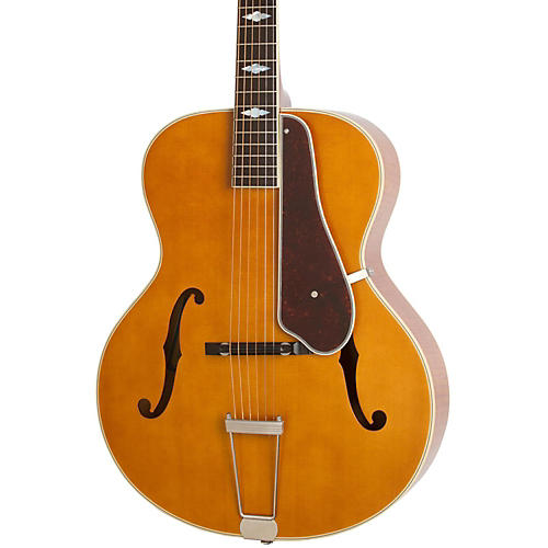 Epiphone Masterbilt Century Collection De Luxe Classic F-Hole Archtop Acoustic-Electric Guitar Vintage Natural