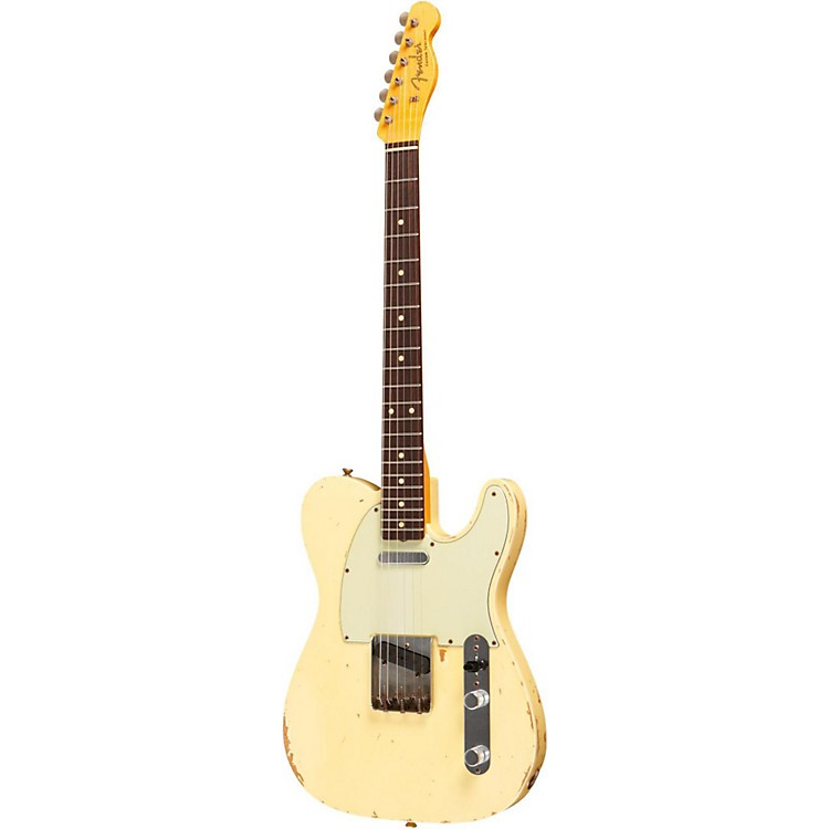 Fender Custom Shop Masterbuilt By Dale Wilson 1960 Heavy Relic Telecaster Electric Guitar Vintage White
