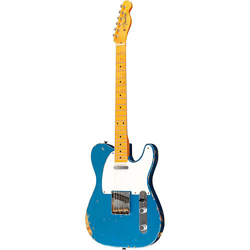 Fender Custom Shop Masterbuilt By Dale Wilson 50's Heavy Relic Telecaster Electric Guitar Aged Lake Placid Blue