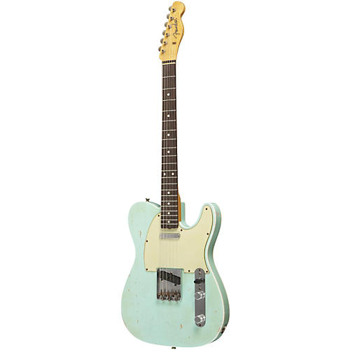 Fender Custom Shop Masterbuilt By Dennis Galuszka 1960 Heavy Relic Telecaster Electric Guitar Surf Green