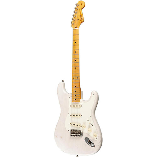 Fender Custom Shop Masterbuilt By Greg Fessler 1955 Relic Stratocaster Electric Guitar White Blonde