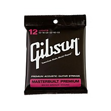 Gibson Masterbuilt Premium 80/20 Bronze Lights Acoustic Guitar Strings