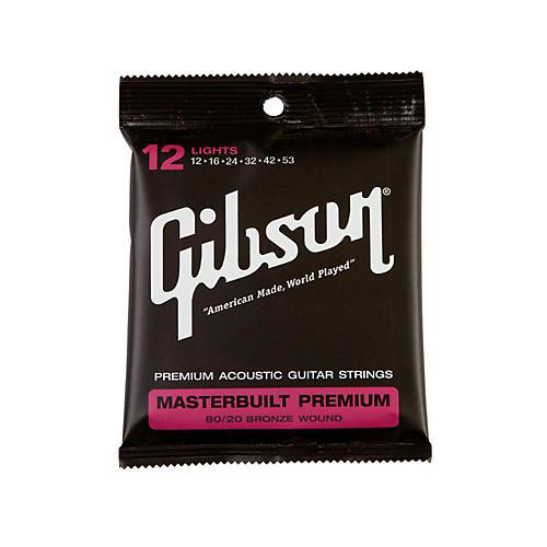 Gibson Masterbuilt Premium 80/20 Bronze Lights Acoustic Guitar Strings
