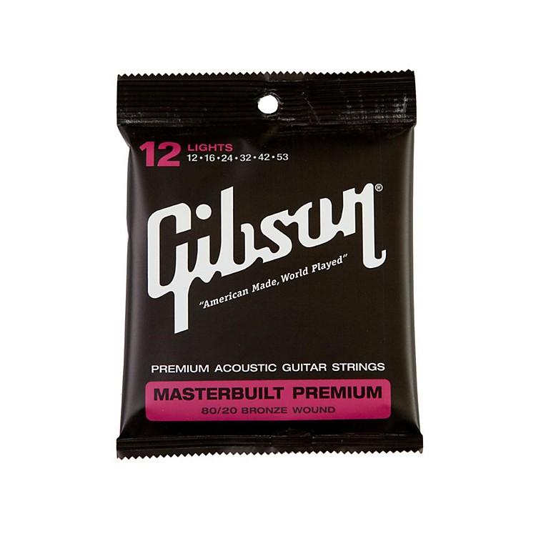 GibsonMasterbuilt Premium 80/20 Bronze Lights Acoustic Guitar Strings