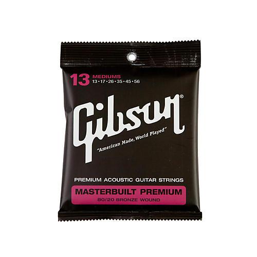 Gibson Masterbuilt Premium 80/20 Bronze Medium Acoustic Guitar Strings