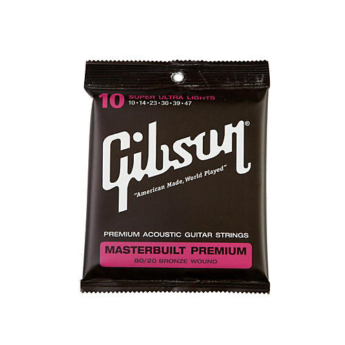 Gibson Masterbuilt Premium 80/20 Bronze Super Ultra Light Acoustic Guitar Strings-thumbnail