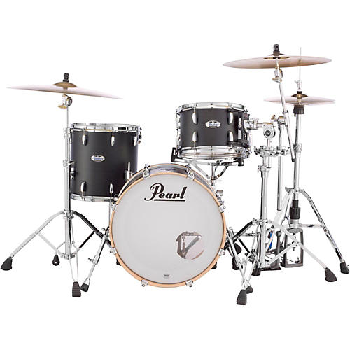 Pearl Masters Maple Complete 3-Piece Shell Pack Matte Black Mist