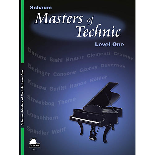 SCHAUM Masters Of Technic, Lev 1 Educational Piano Series Softcover-thumbnail