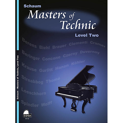 SCHAUM Masters Of Technic, Lev 2 Educational Piano Series Softcover-thumbnail