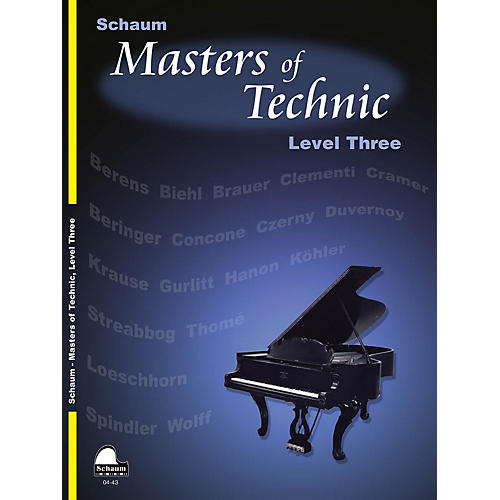 SCHAUM Masters Of Technic, Lev 3 Educational Piano Series Softcover-thumbnail