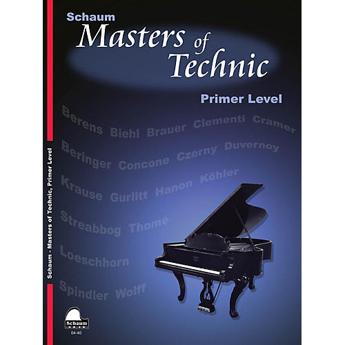 SCHAUM Masters Of Technic, Primer Educational Piano Series Softcover