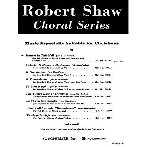 G. Schirmer Masters in This Hall (SATB a cappella with soprano and baritone soli) by Traditional French Carol-thumbnail