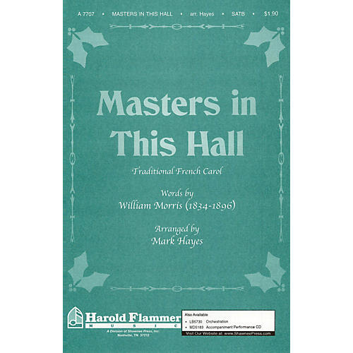 Shawnee Press Masters in This Hall SATB arranged by Mark Hayes
