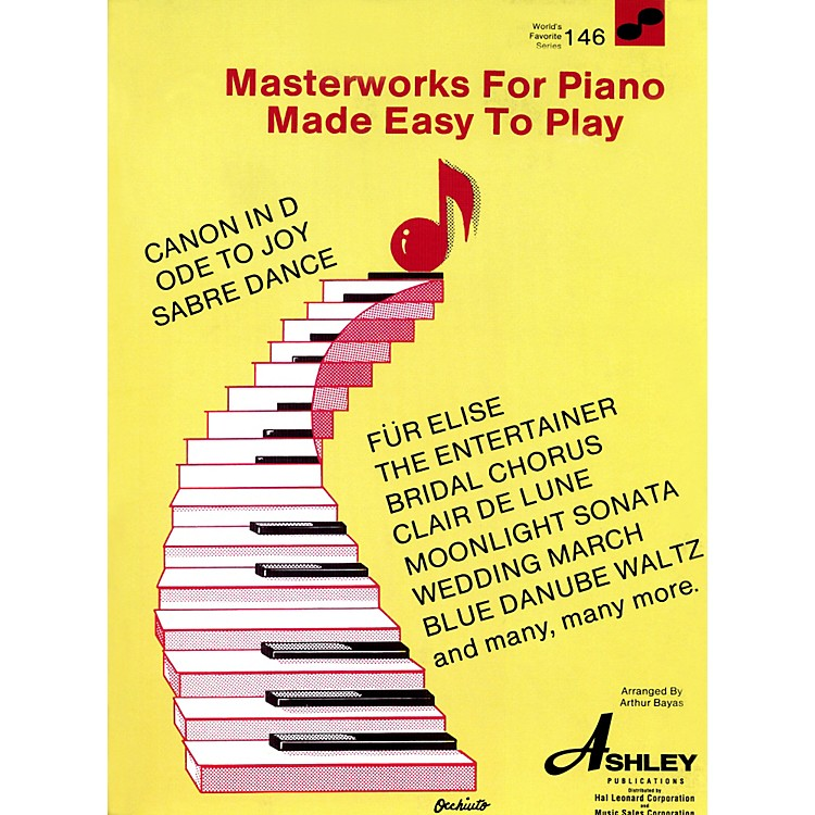 Hal LeonardMasterworks For The Piano Made Easy To Play 146 Worlds Favorite