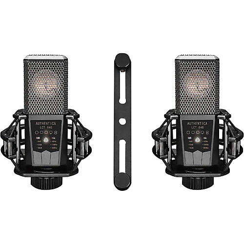 Lewitt Audio Microphones Matched Stereo Pair of LCT-640 Large-Diapragm Condenser Microphones-thumbnail
